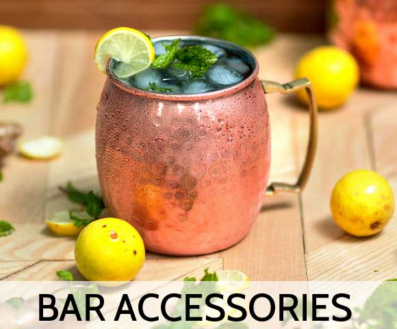 Copper beer mug moscow mule mug with lemon mint an dice