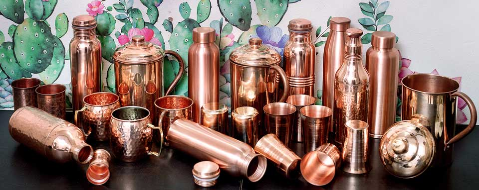 Copper Products copper bottle copper jugs copper tumblers copper pots copper plates