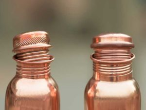 Two Copper Bottle with lid open